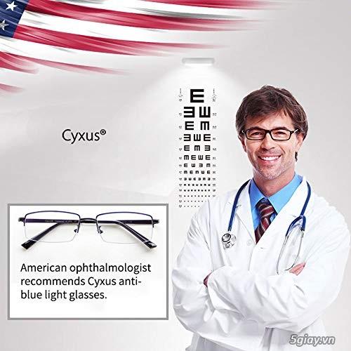 Mắt kính Cyxus USA lọc ánh sáng Xanh điện thoại , UV bảo vệ mắt. - 1