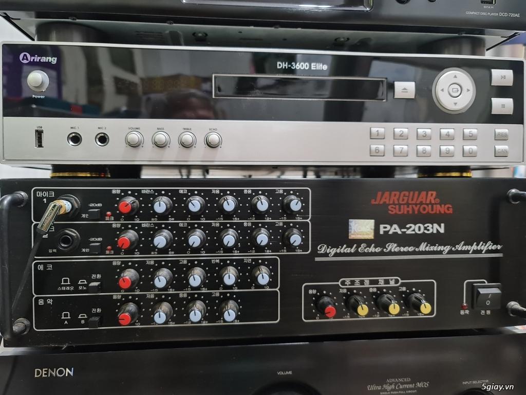 Cần bán đầu phát Karaoke Arirang DH-3600 Elite và Amply JARGUAR 203N