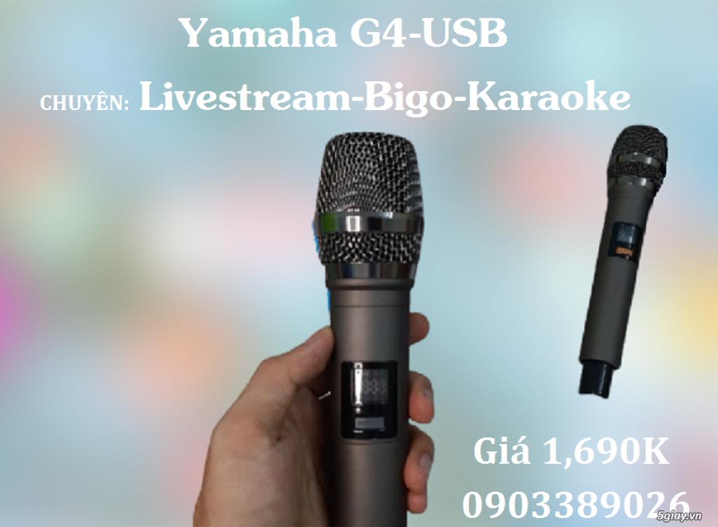 Mixer+Micro không dây Yamaha G4-USB chuyên karaoke, Livestream - 2