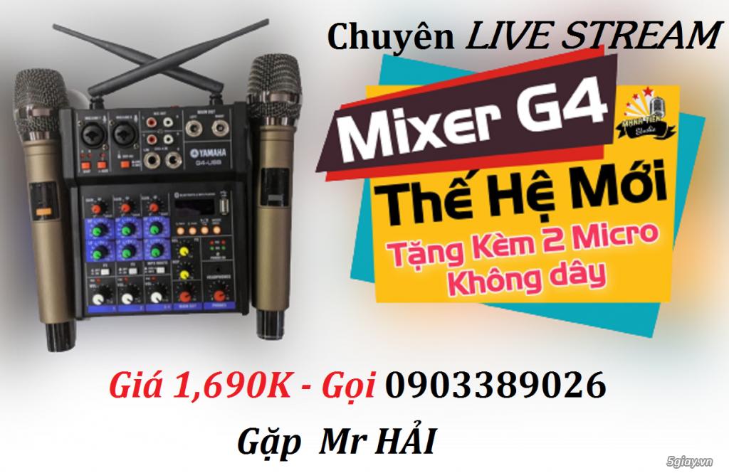 Mixer+Micro không dây Yamaha G4-USB chuyên karaoke, Livestream
