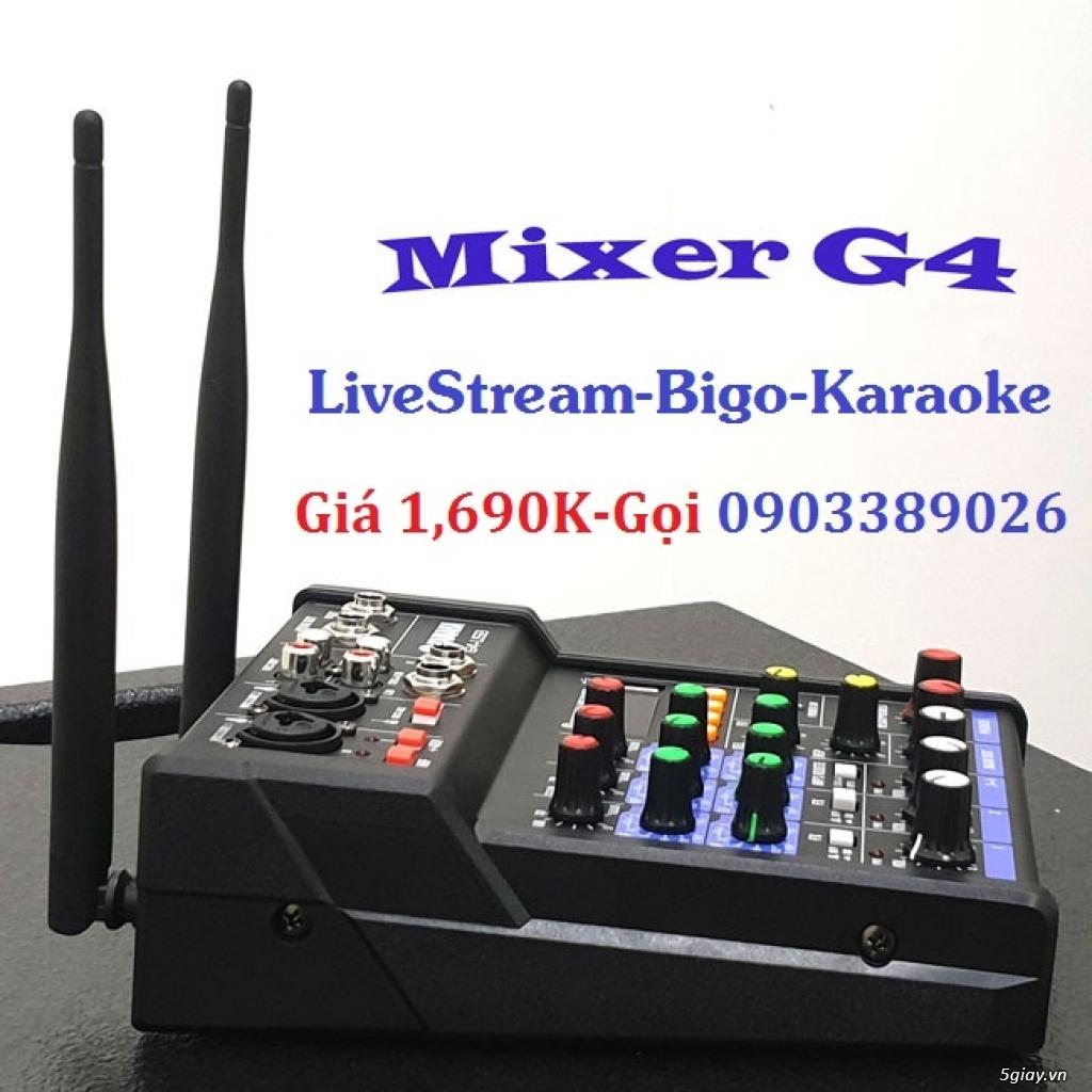 Mixer+Micro không dây Yamaha G4-USB chuyên karaoke, Livestream - 3