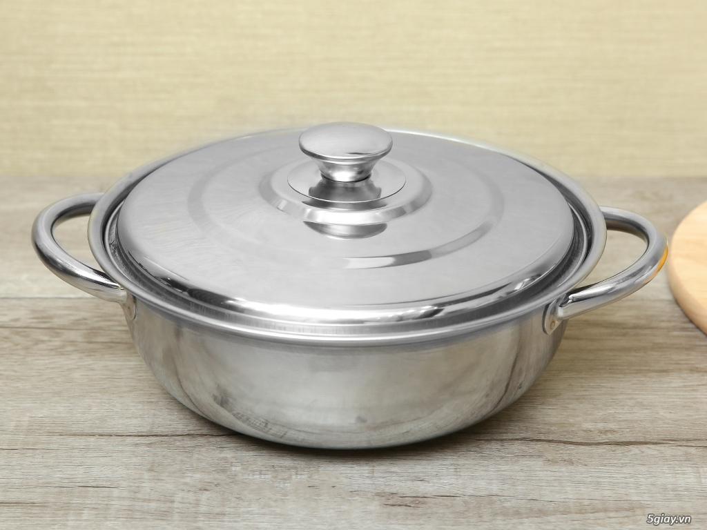 Cung cấp sỉ nồi lẩu, bếp cồn, xô đá và các loại inox gia dụng giá rẻ - 12