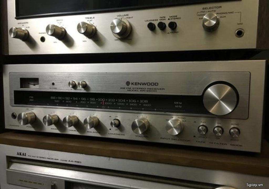 Ampli đài cổ xuất Mỹ KENWOOD KR-2600 Điện 120V, hình thức còn rất mới
