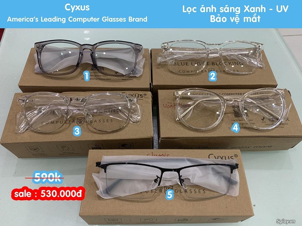 Mắt kính Cyxus USA lọc ánh sáng Xanh điện thoại , UV bảo vệ mắt.