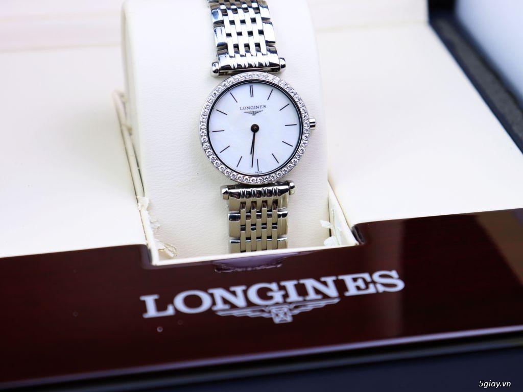 LONGINES Nữ L4.241.0 Mặt khảm xà cừ Đính Full kim cương fullbox