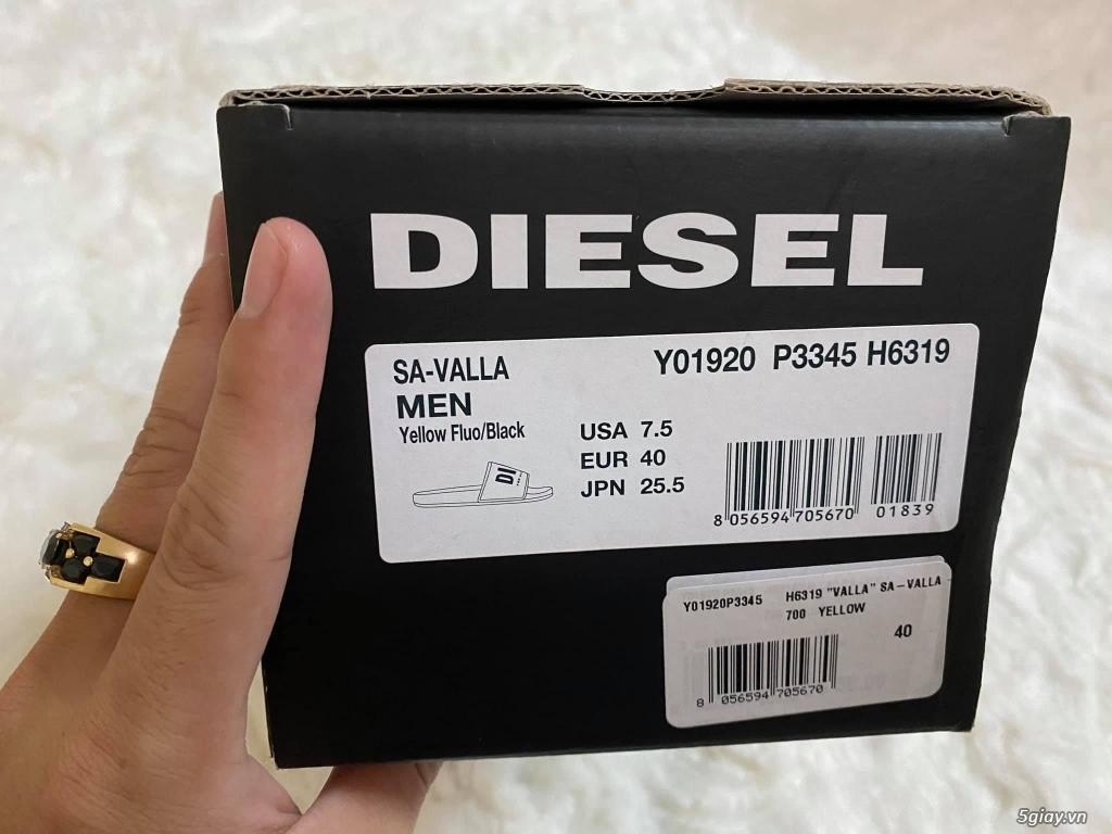 Dép hàng hiệu Diesel Slides Sa-Valla W-Fluo Yellow new 100% full box - 1
