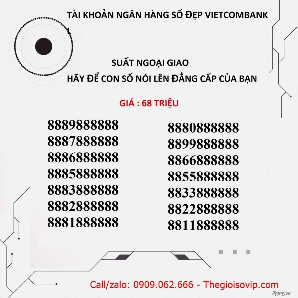 Nhận mở tài khoản ngân hàng số đẹp vip vietcombank - 21