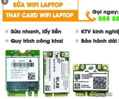 Nâng cấp Card WIFI 5Ghz cho laptop# dell HP SONY ASUS