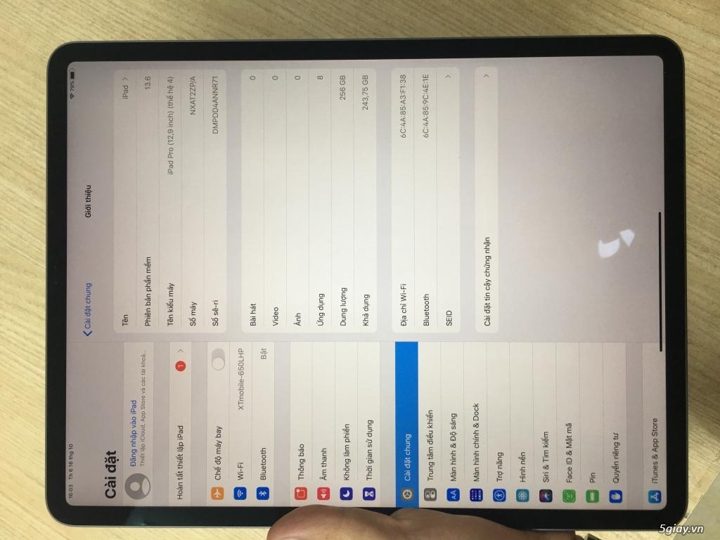 Ipad Pro 12.9 inh 2020 256GB Wifi ( Máy trả bảo hành ) - 2