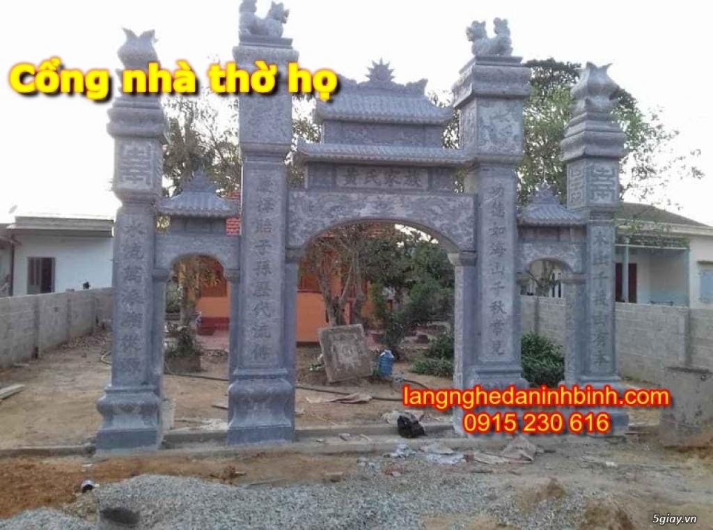 Mẫu cổng nhà thờ họ bằng đá