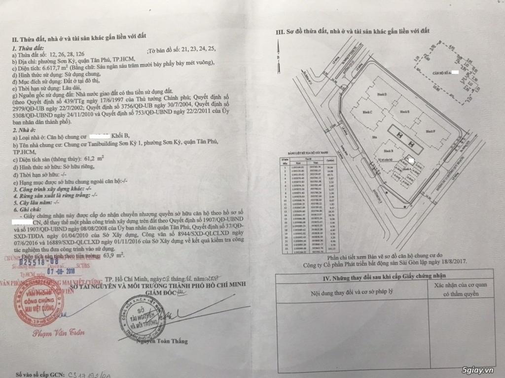 Bán Căn Hộ SƠN KỲ 1 Gần khu vực Aeon Tân Phú - 12