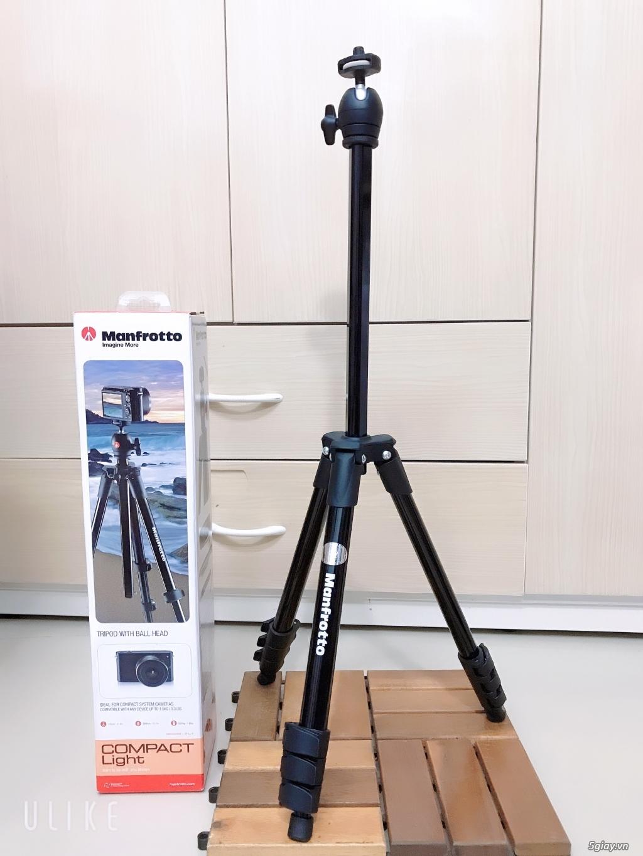 ❤Thanh lý Chân máy ảnh Manfrotto Compact Light(Đen)❤️