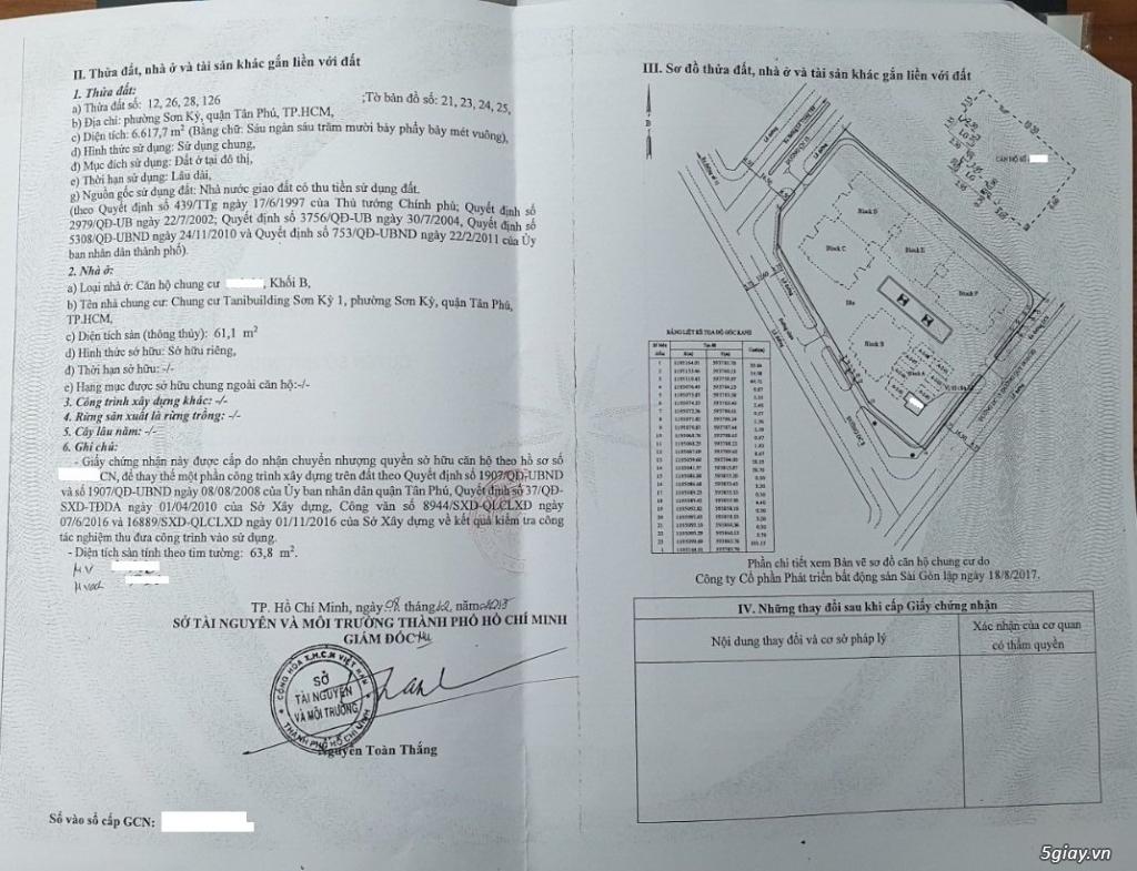Bán Căn Hộ/ Chung Cư 2PN - SƠN KỲ 1, khu vực Aeon Tân Phú - 12