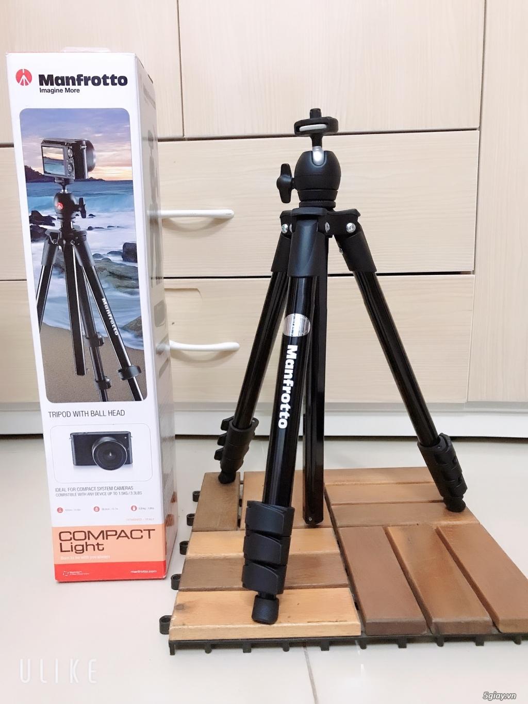 ❤Thanh lý Chân máy ảnh Manfrotto Compact Light(Đen)❤️ - 1