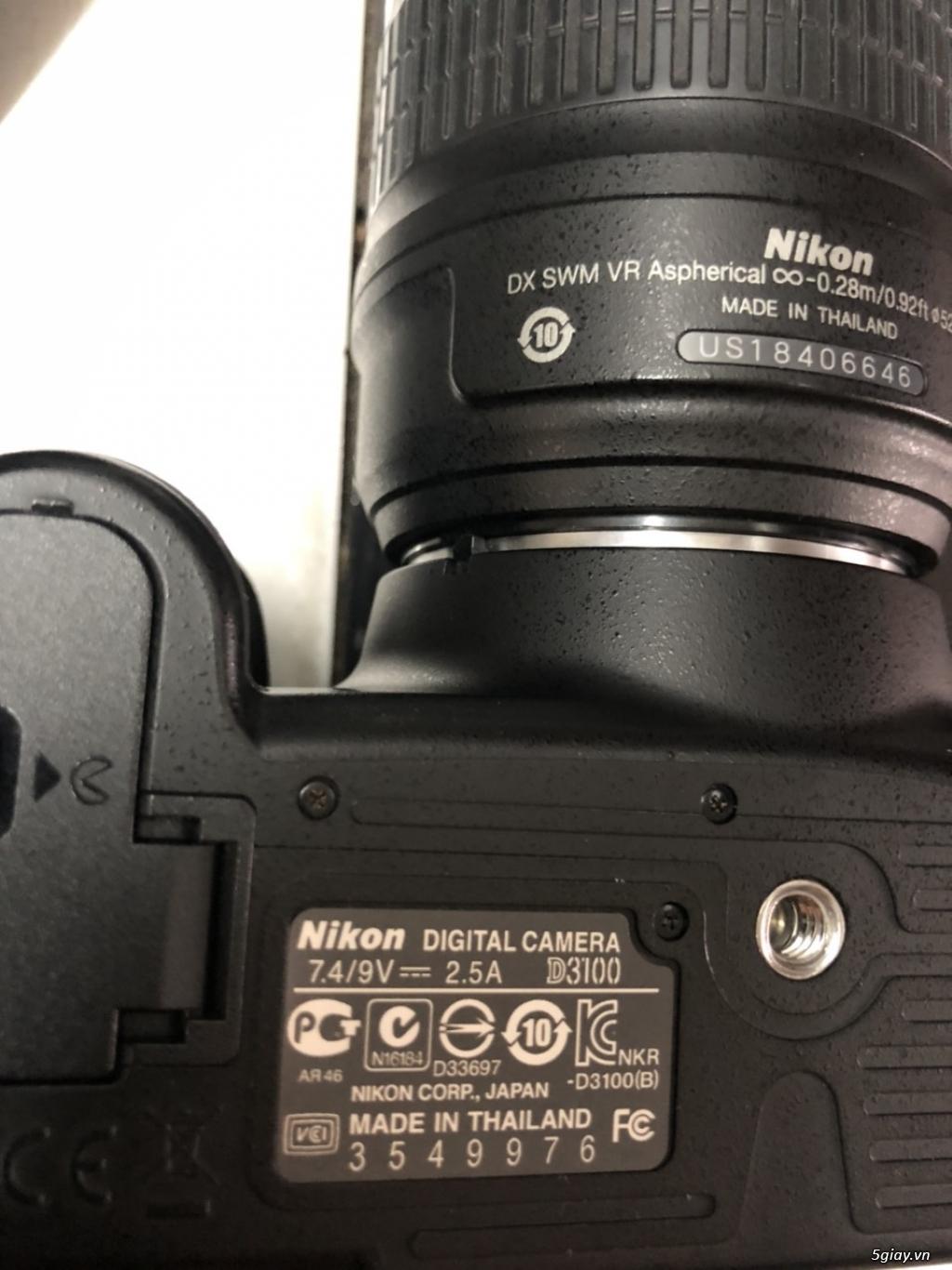 Máy ảnh Nikon D3100 kèm 2 len 18-55, 55-200 - 1