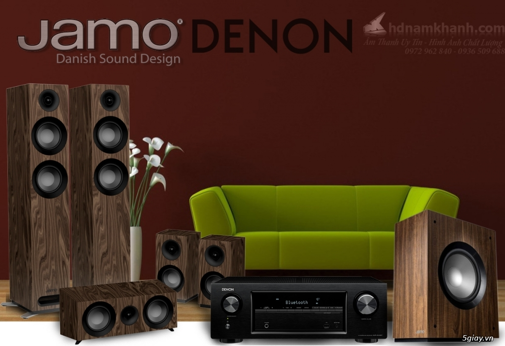 Bộ 5.1 Amply Denon X1600H + Loa Jamo S809 HCS, Sub Jamo S810