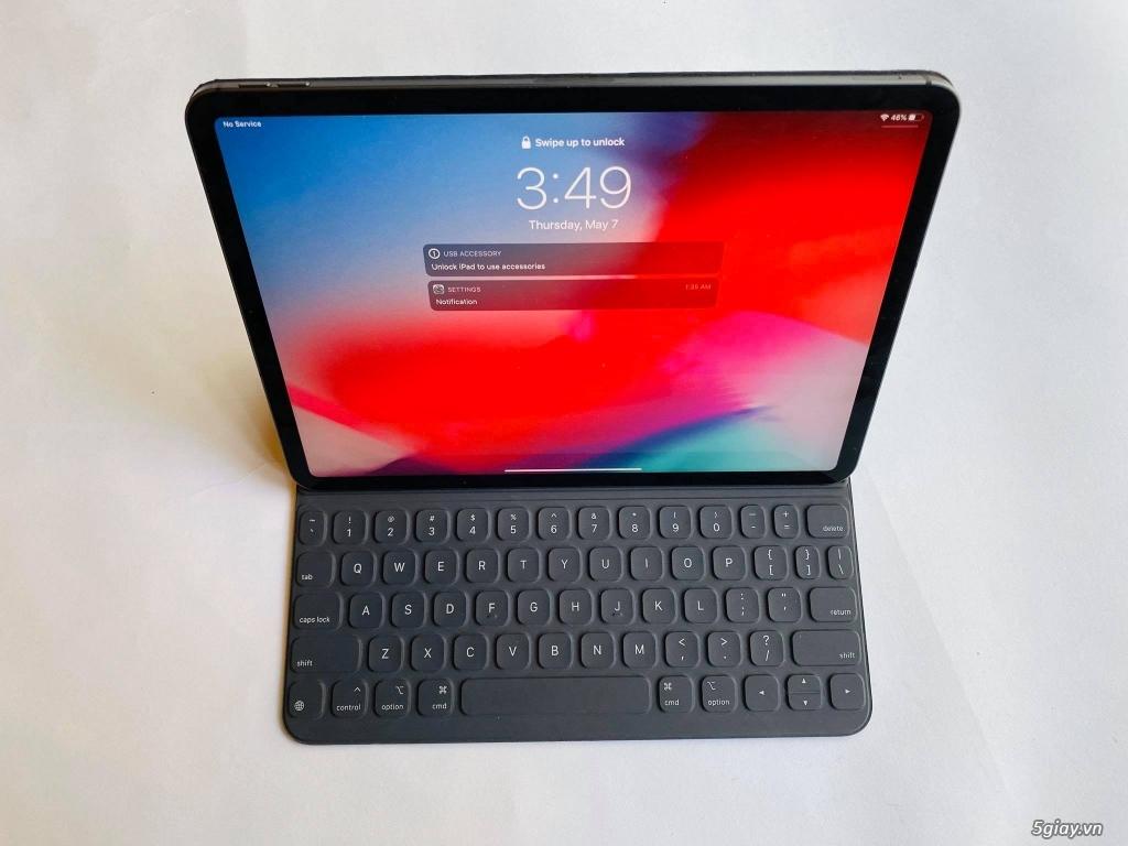 HCM - Bán Ipad pro 11 2018 4G 64G màu Grey fullbox new 99% + bàn phím