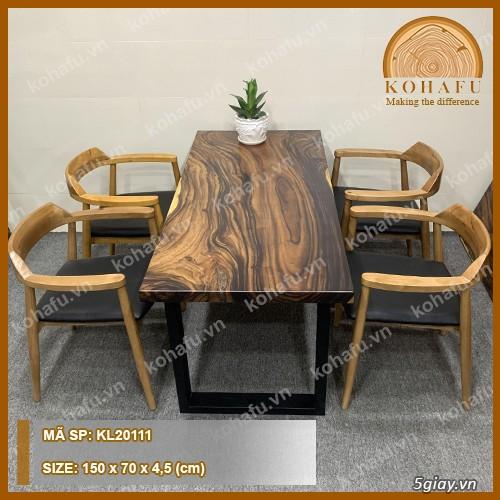Cần Bán Bàn làm việc dài gỗ me tây nguyên khối