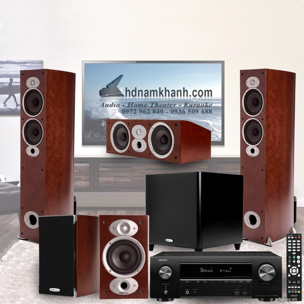 Amply Denon X1600H + Bộ Loa Polk Audio A5 rất sang trọng