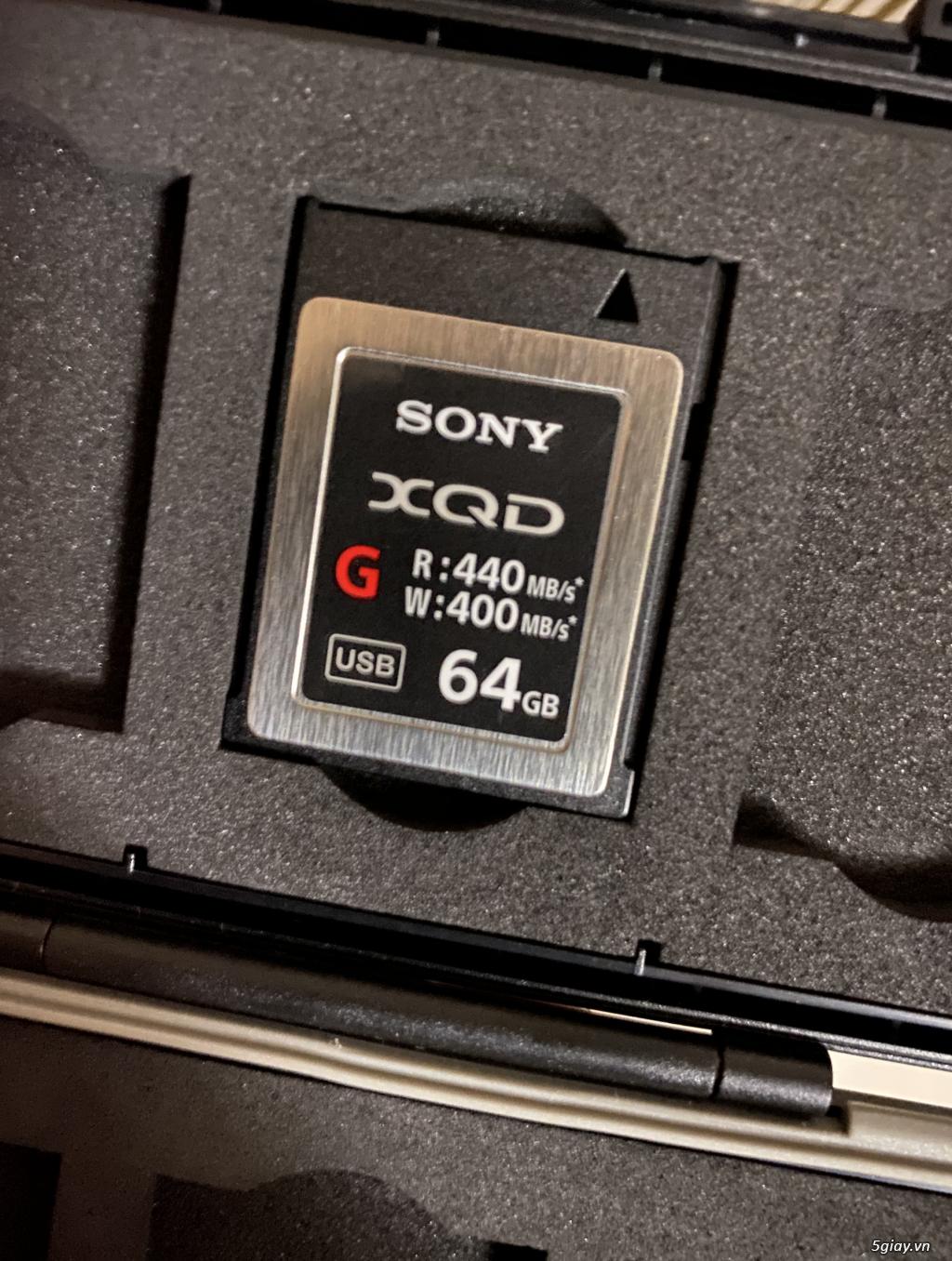 Cần bán thẻ XQD 64GB sony 99% hàng Us mới về