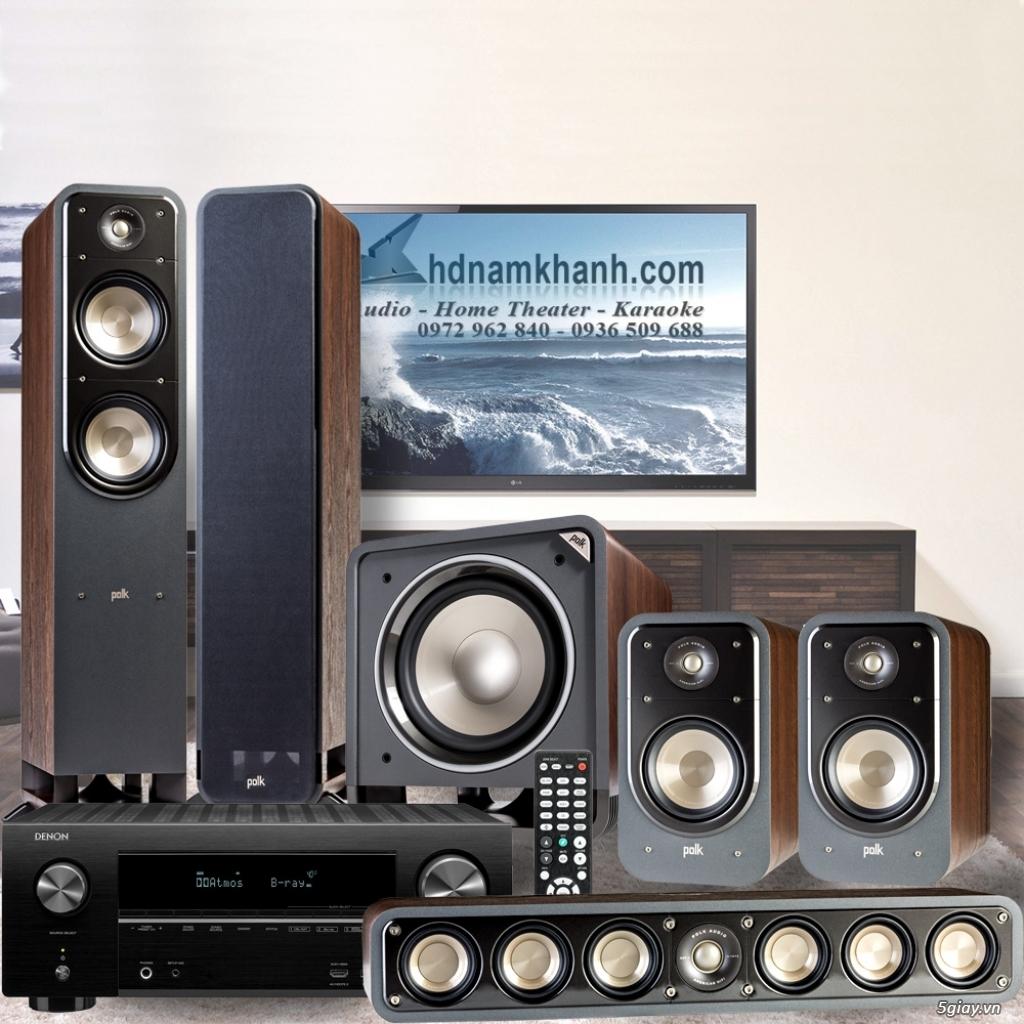 Amply Denon X2600H+Bộ 5.1 Polk Audio S55  lý tưởng cho xem phim