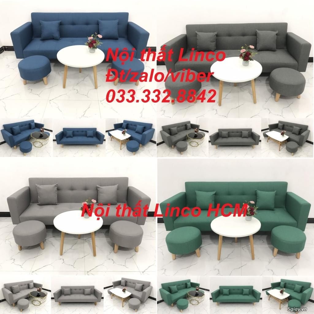 Bộ sofa bed sofa giường tay vịn phòng khách giá rẻ Nội thất Linco HCM