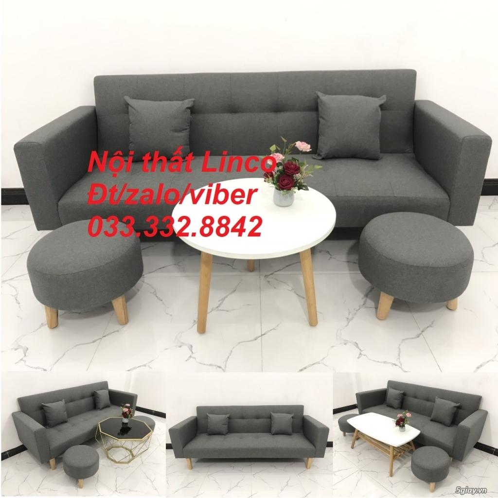Bộ sofa bed sofa giường tay vịn phòng khách giá rẻ Nội thất Linco HCM - 3