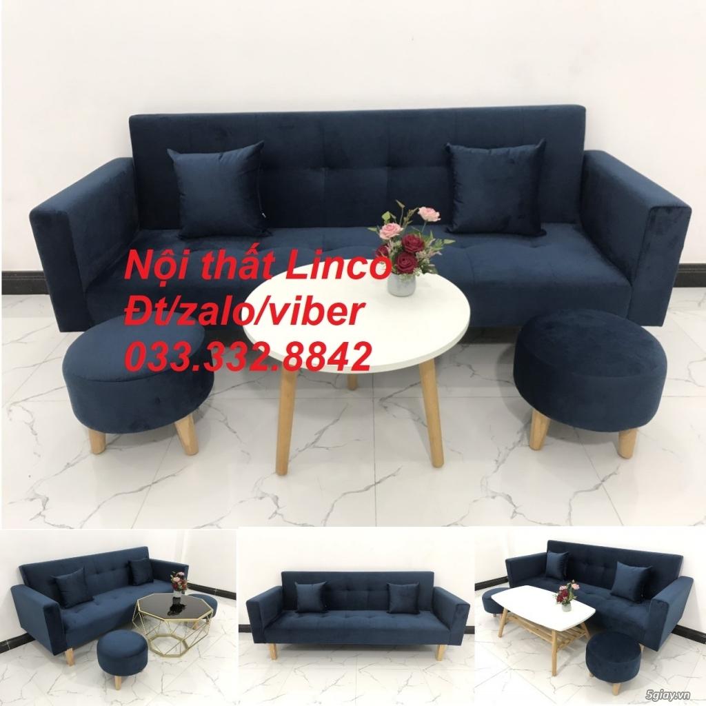 Bộ sofa bed sofa giường tay vịn phòng khách giá rẻ Nội thất Linco HCM - 6