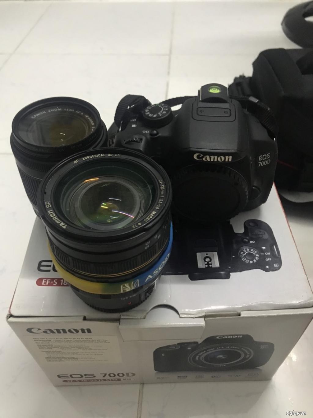 Cần bán Canon 700D + Lens kit 18-55 STM + Lens Tamron 24-135, full box