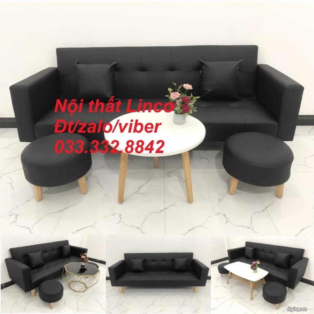 Bộ sofa bed sofa giường tay vịn phòng khách giá rẻ Nội thất Linco HCM - 5