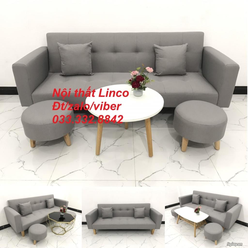 Bộ sofa bed sofa giường tay vịn phòng khách giá rẻ Nội thất Linco HCM - 4