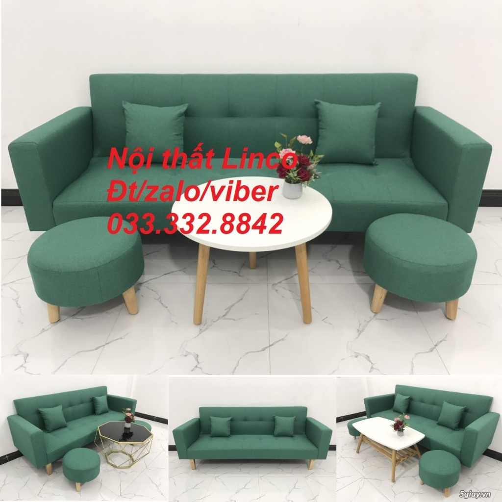 Bộ sofa bed sofa giường tay vịn phòng khách giá rẻ Nội thất Linco HCM - 1