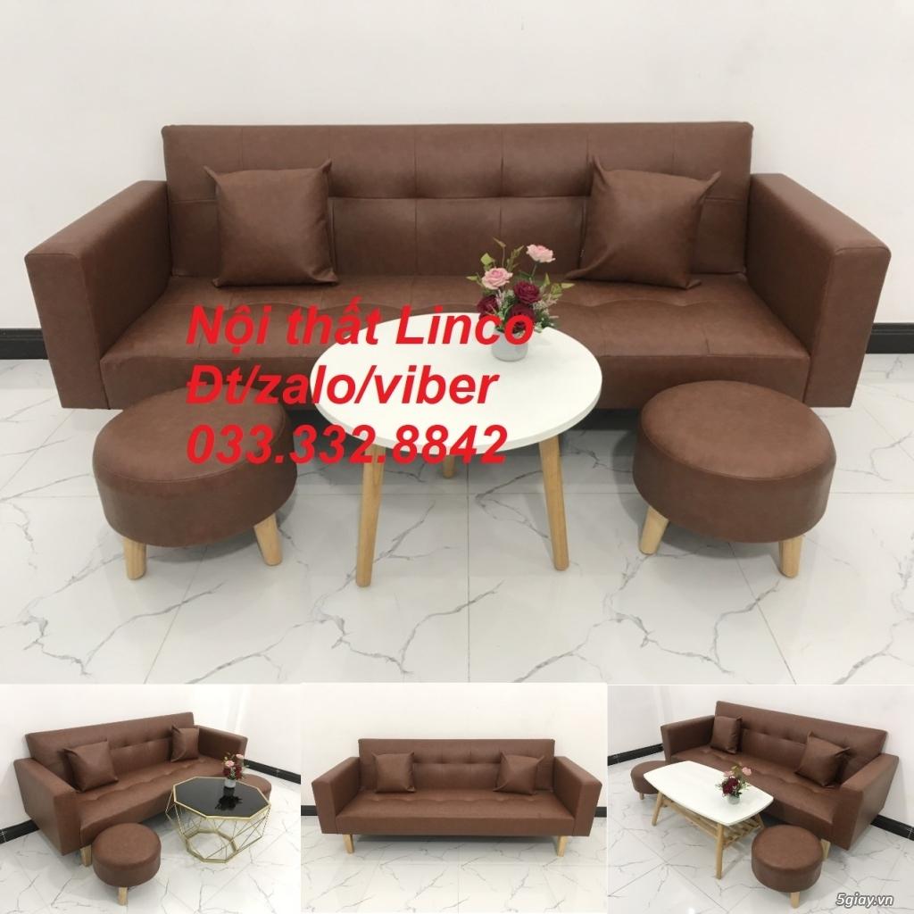 Bộ sofa bed sofa giường tay vịn phòng khách giá rẻ Nội thất Linco HCM - 9