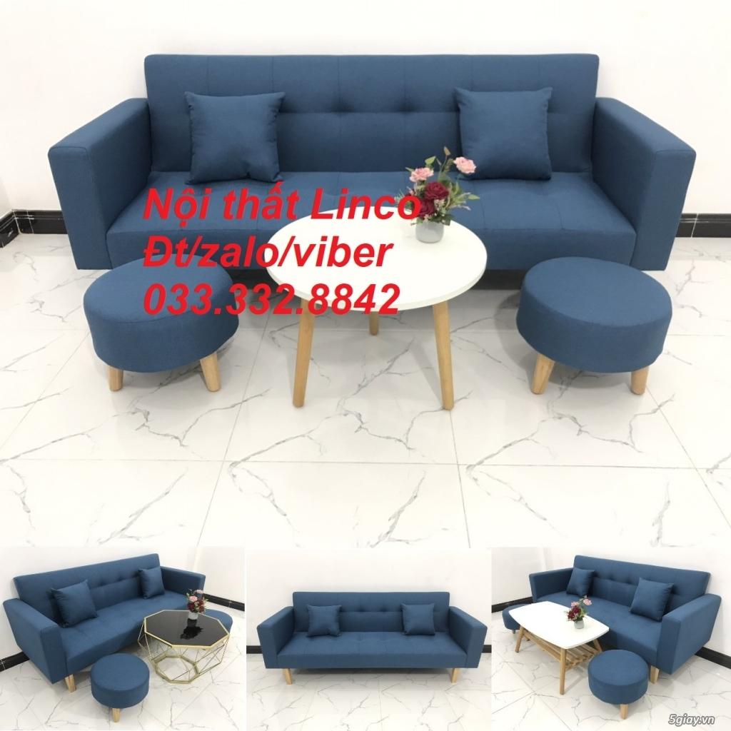 Bộ sofa bed sofa giường tay vịn phòng khách giá rẻ Nội thất Linco HCM - 2