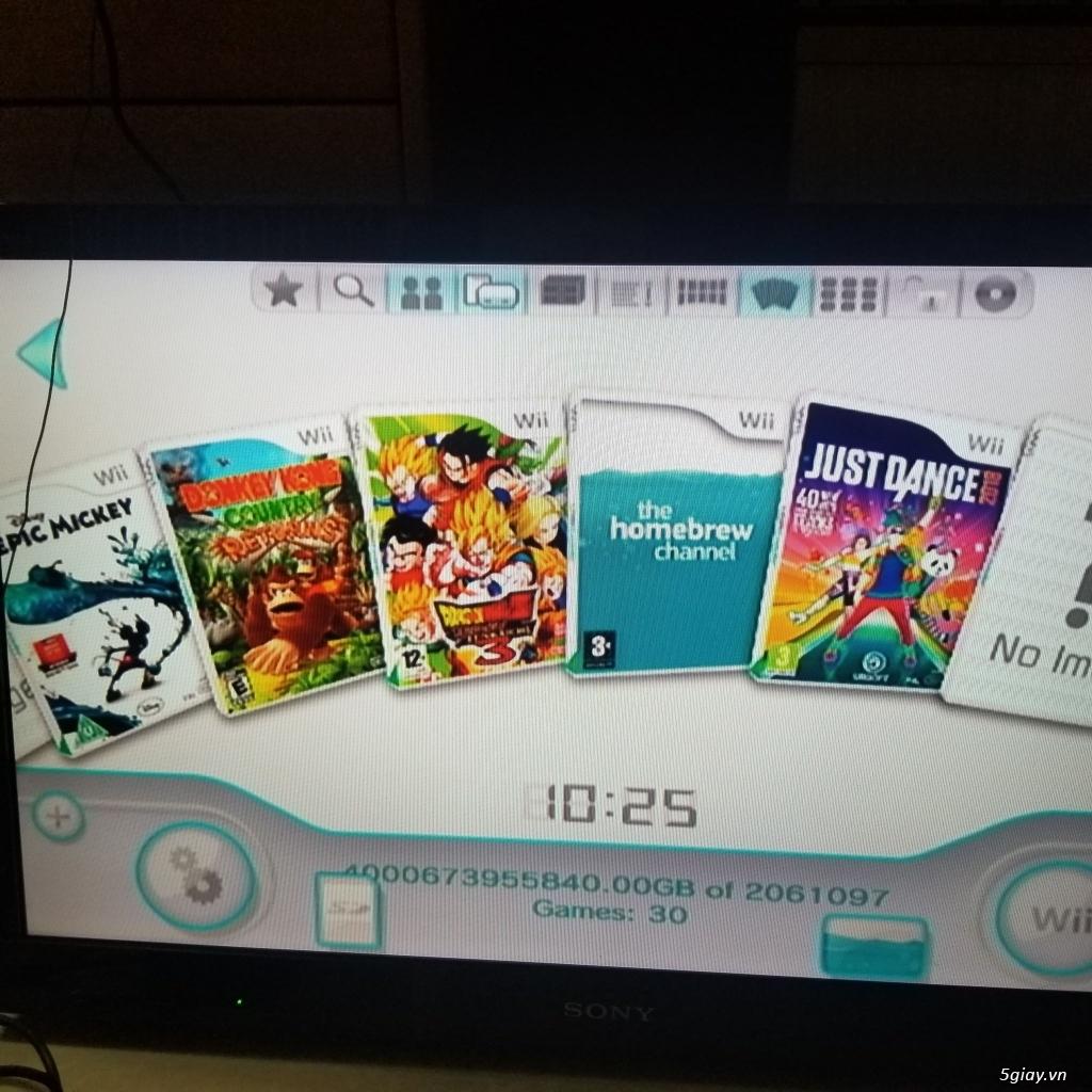 Nintendo Wii màu đen hệ Japan đã hack kèm 1 dĩa game tay wii - 2