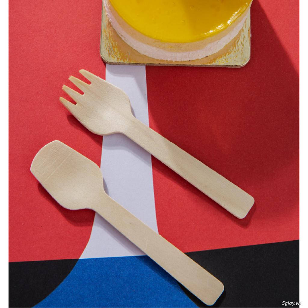 KEGO - Dĩa (nĩa) gỗ 10.5cm dùng một lần (thùng 1000 chiếc) - 3