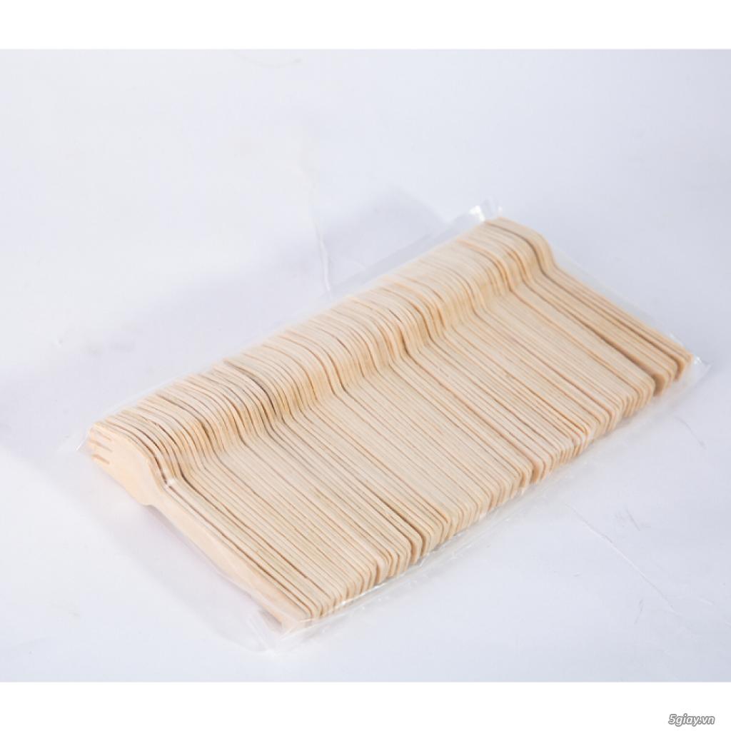 KEGO - Dĩa (nĩa) gỗ 10.5cm dùng một lần (thùng 1000 chiếc) - 1