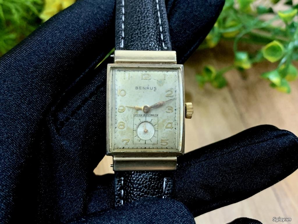 Benrus Thụy Sỹ bọc vàng thật 10k siêu hiếm 1940s