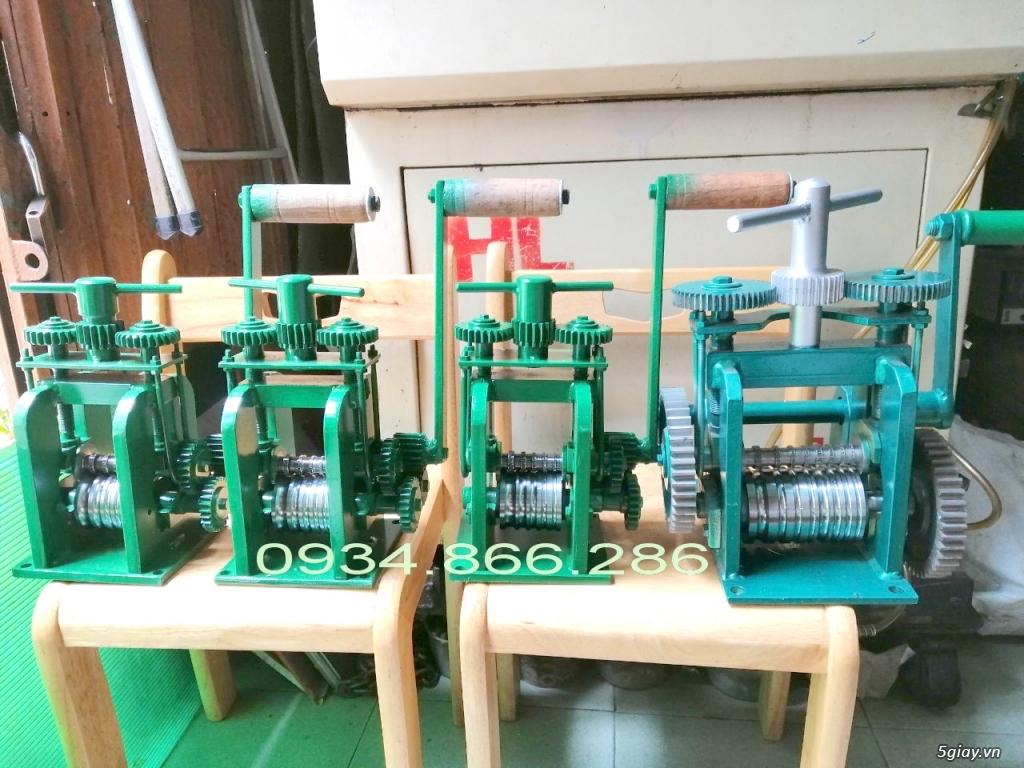 HCM-  Nhận gia công các loại máy Cán Vàng - cán chữ trên Nhẫn VÀNG 24K - 8