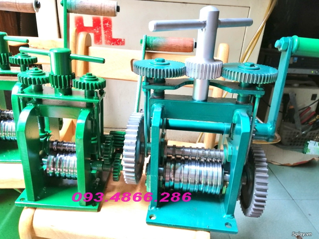 HCM-  Nhận gia công các loại máy Cán Vàng - cán chữ trên Nhẫn VÀNG 24K - 10