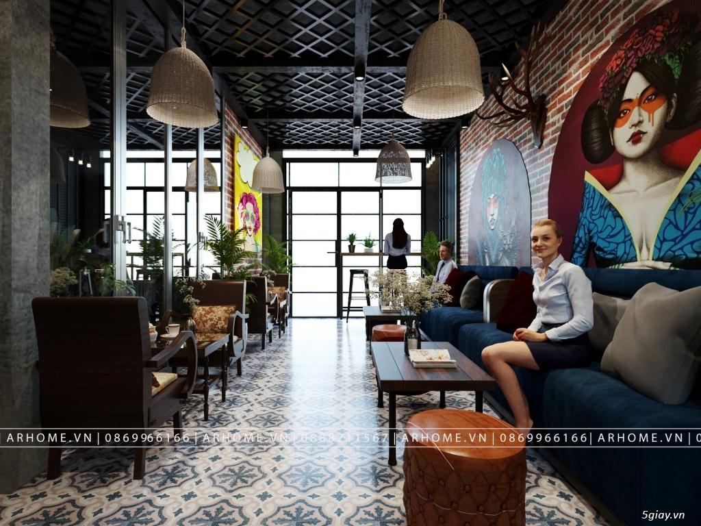 Lắng đọng thời gian với thiết kế nội thất quán Cafe phong cách Hoài cổ - 3