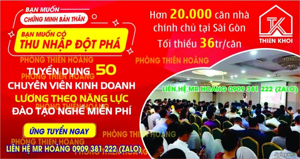 Bất động sản Thiên Khôi HCM tuyển dụng 50 nhân viên kinh doanh