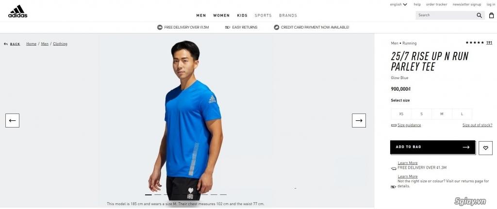 HN-TQ bán áo thể thao Adidas chính hãng new 100% full tem tag - 5