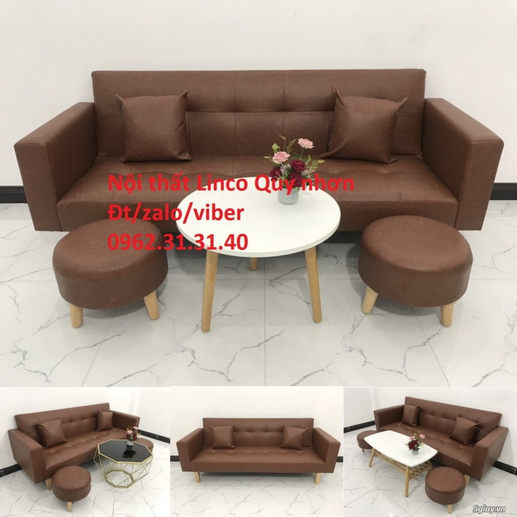 Bộ ghế sofa beb tay vịn phòng khách - 2