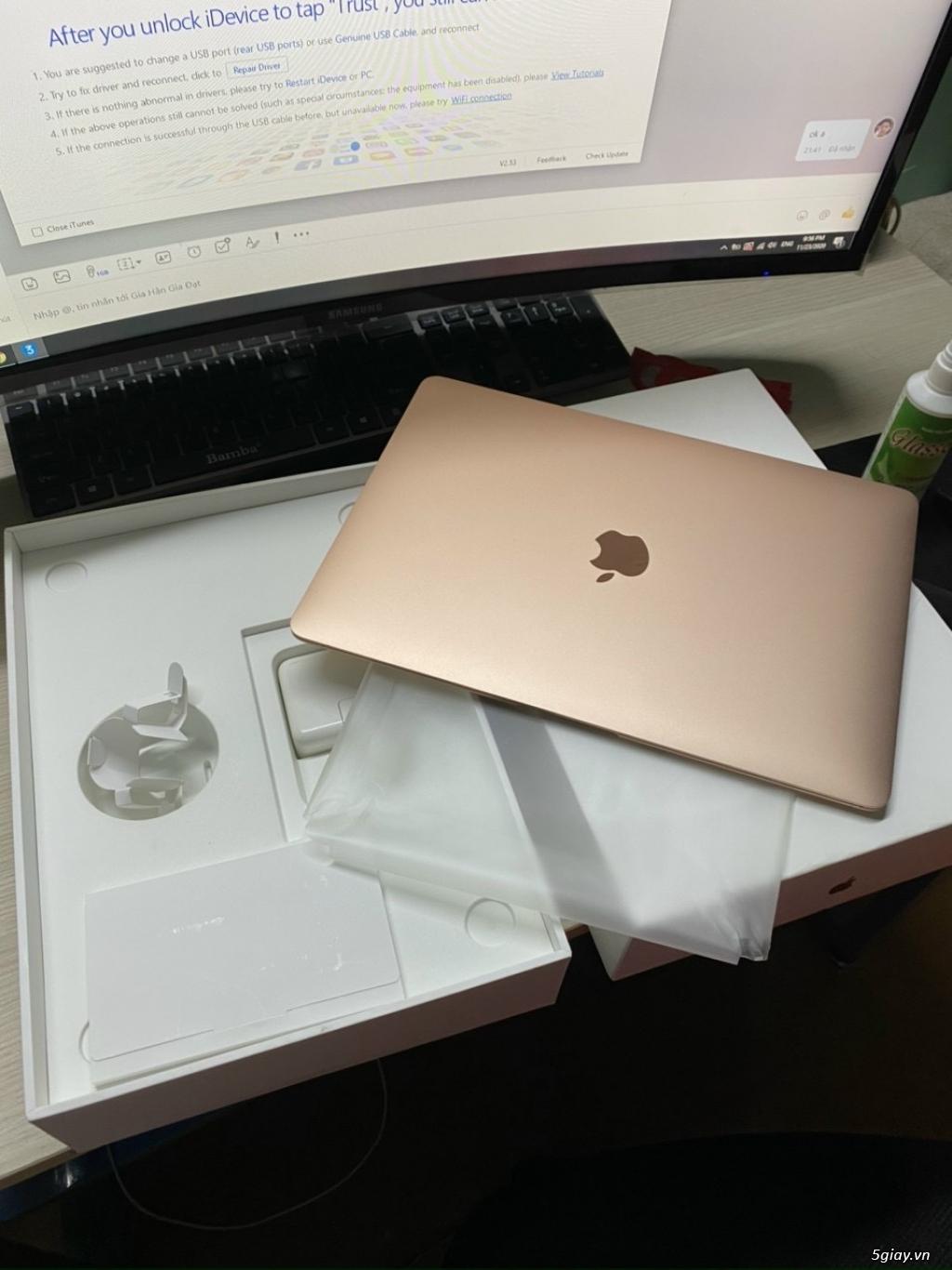 MacBook Air 13 inch 2018 màu gold fullbox đẹp keng 99% - 1
