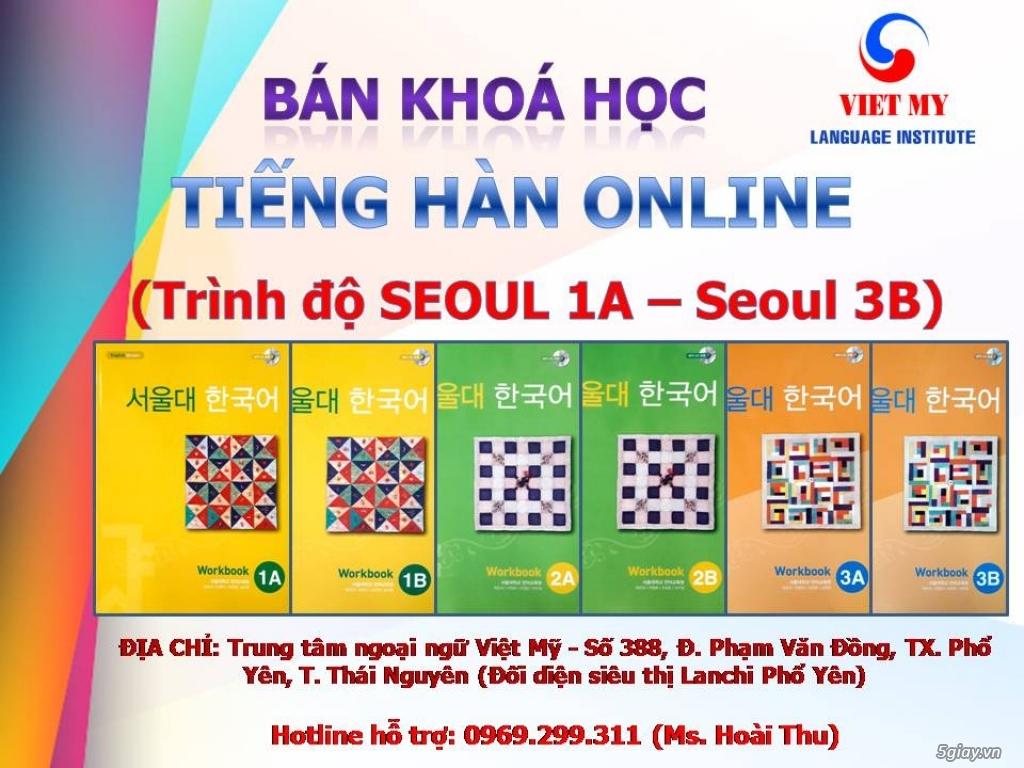 Bán khoá học Tiếng Hàn Online