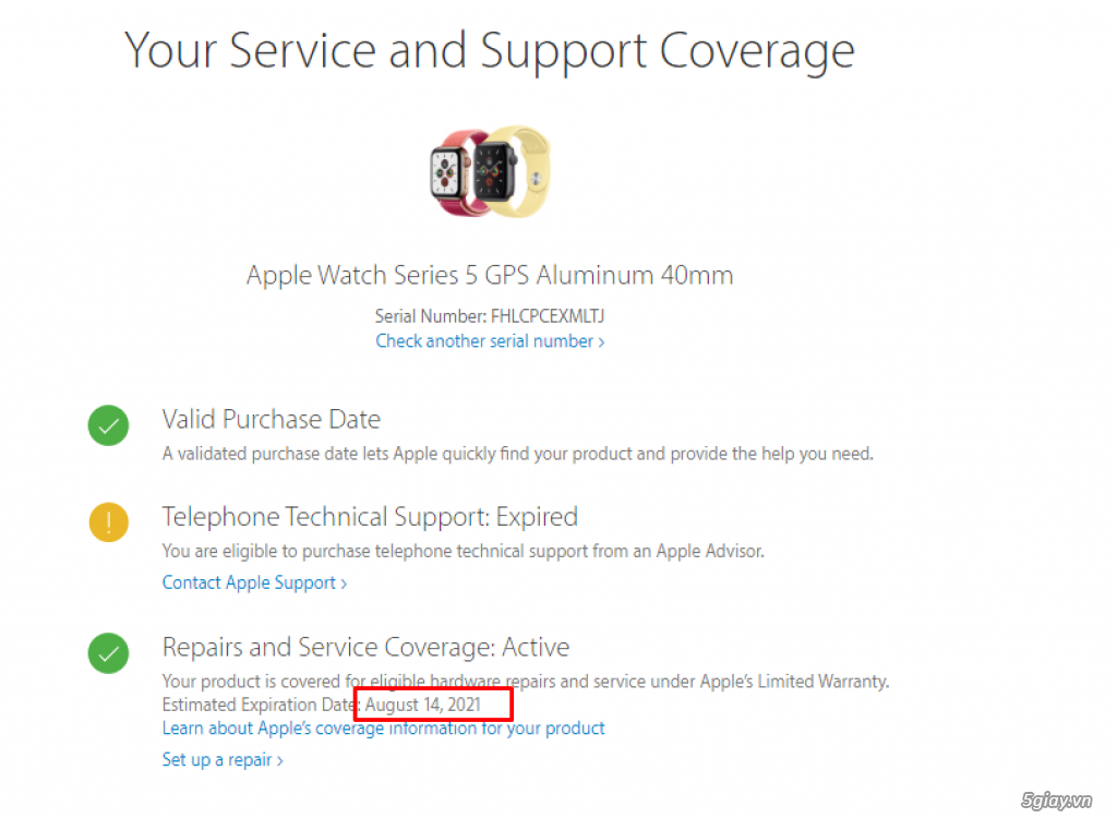 Apple watch sr5, 40mm, Gold-Pink, Likenew 99%, Fullbox - 2