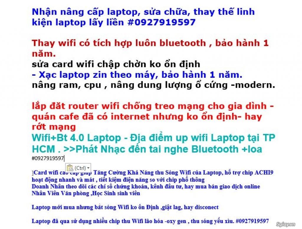 NÂNG CẤP CARD WI-FI TRÊN LAPTOP - CHÌA KHÓA TĂNG TỐC CHO HỆ THỐNG - 2