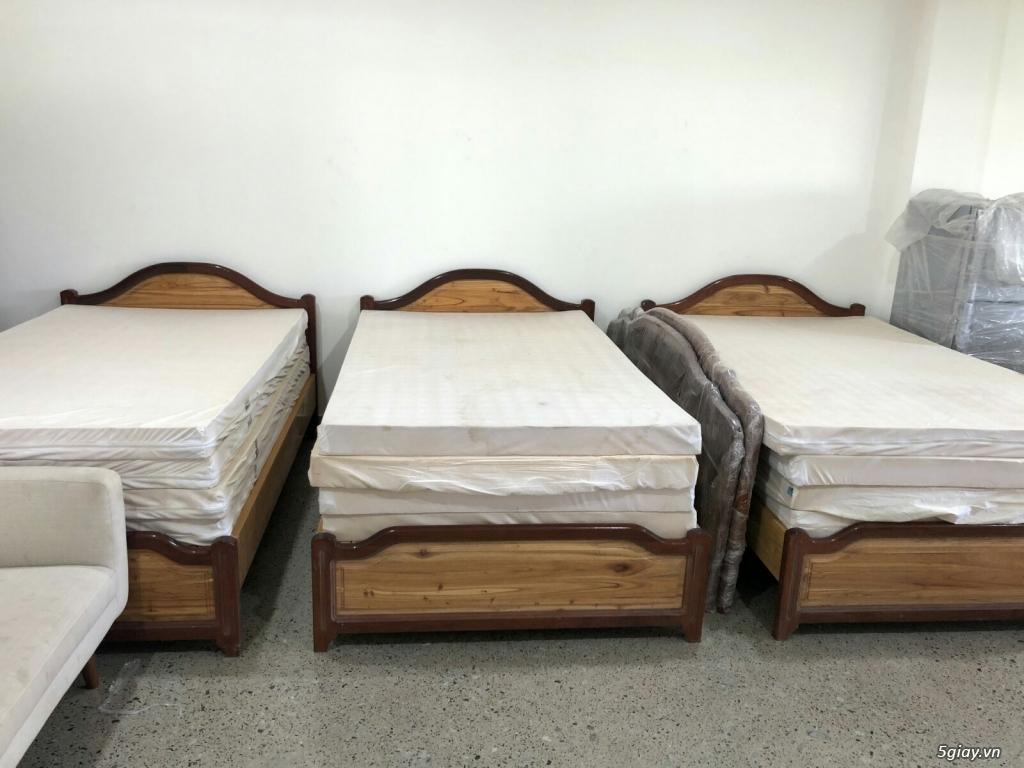 Thanh lý combo giường 1.2m + nệm Kymdan cao su thiên nhiên chính hãng