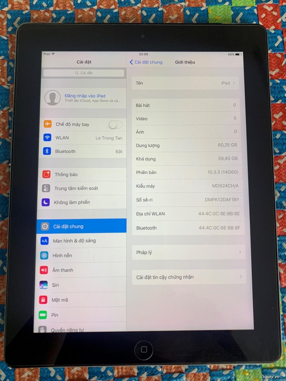 Ipad 4 64GB Wifi , đen, không lỗi lầm, Pin trâu - 1